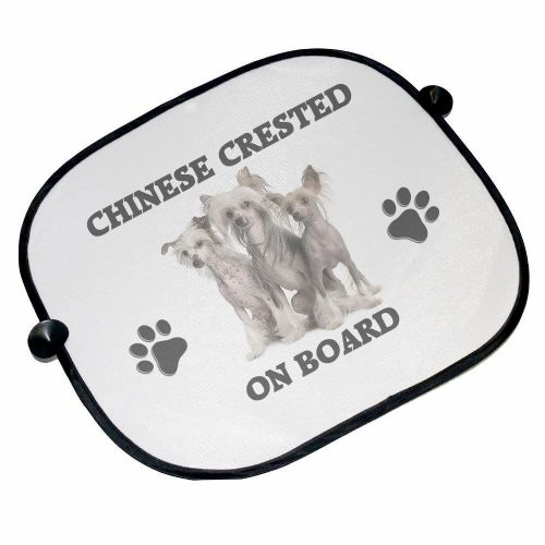 Chinese Crested On Board Car Sun Shades